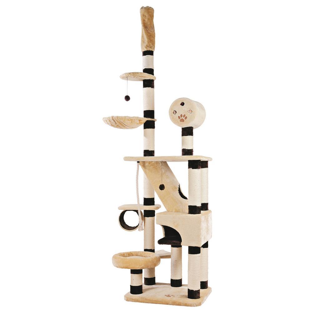 Beige/Brown Belorado Adjustable Cat Tree