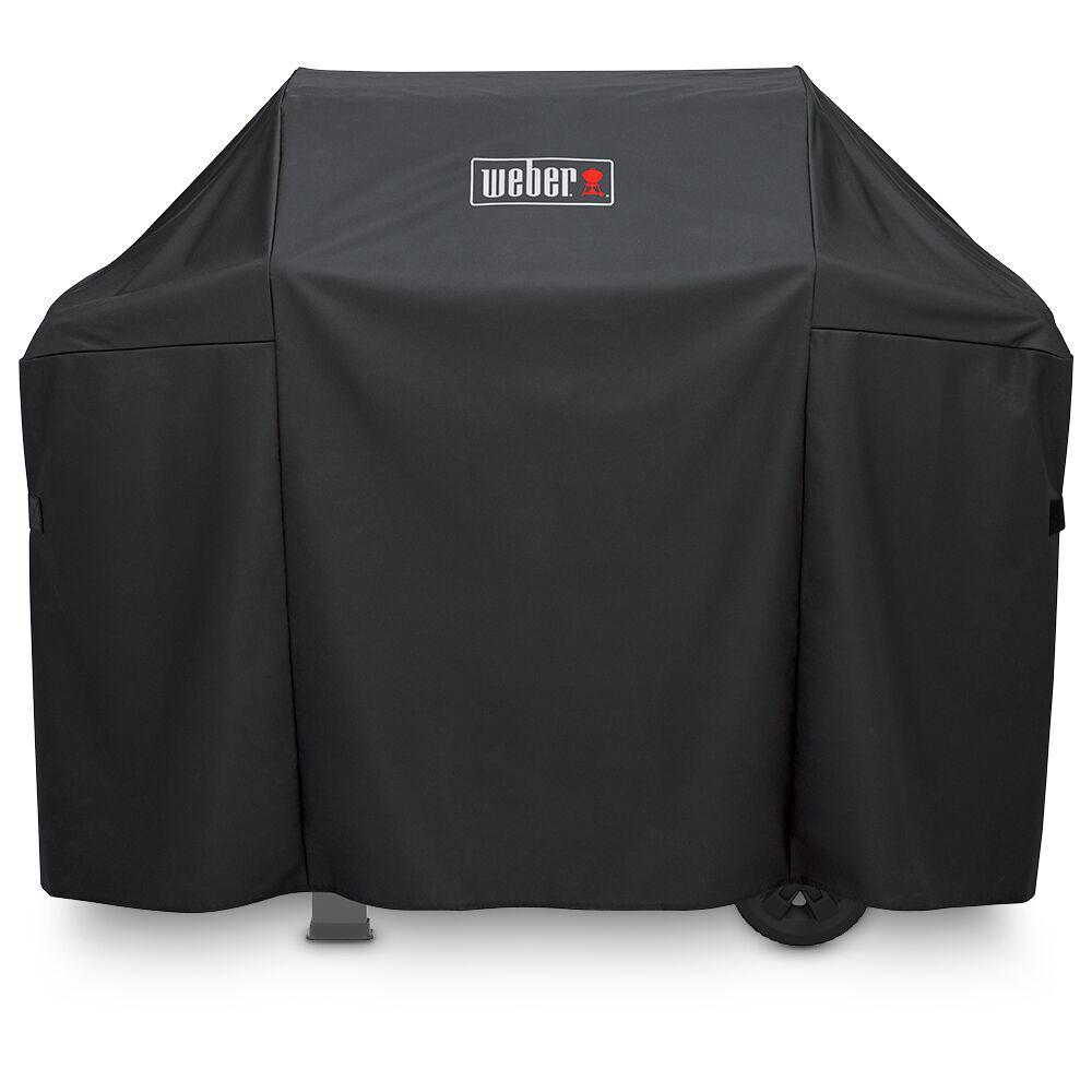 weber spirit and spirit ii 3 burner gas grill cover 7139 the home depot. Black Bedroom Furniture Sets. Home Design Ideas