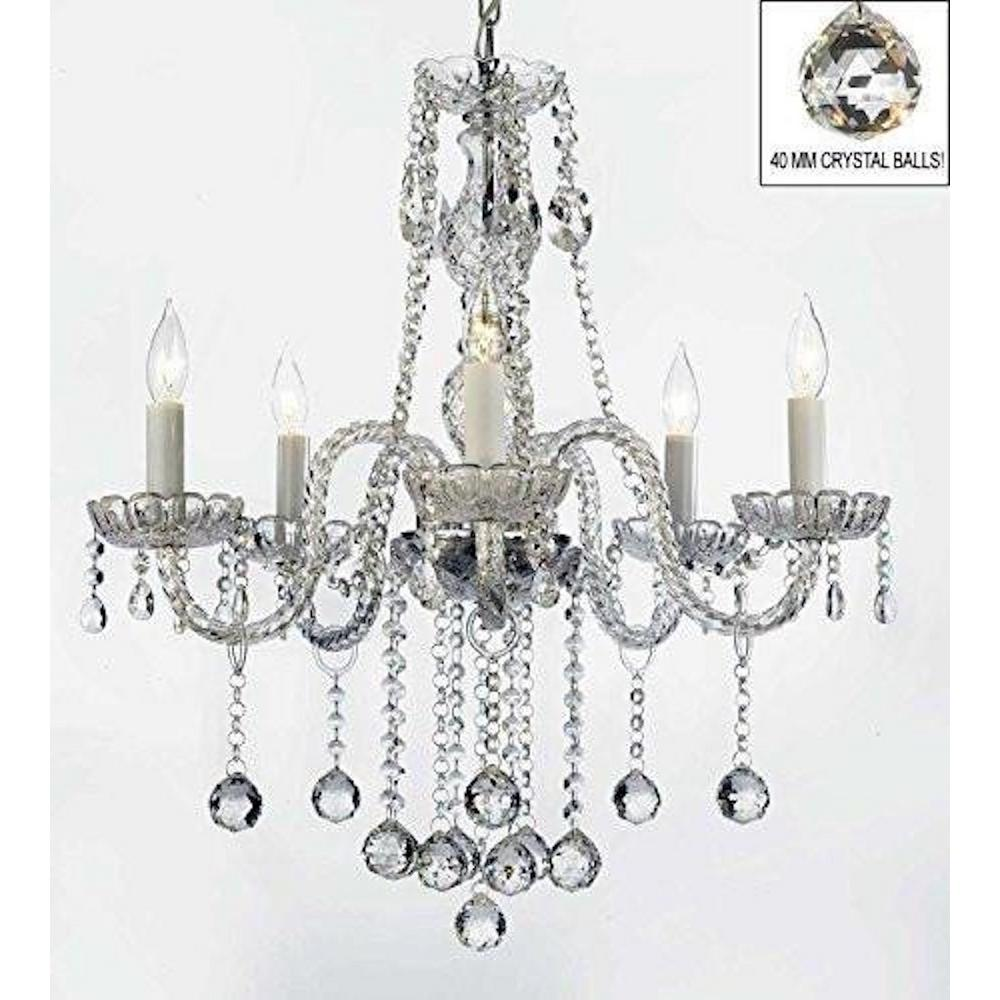 Harrison Lane Royal 5 Light Clear Crystal Chandelier Trimmed With Swarovski