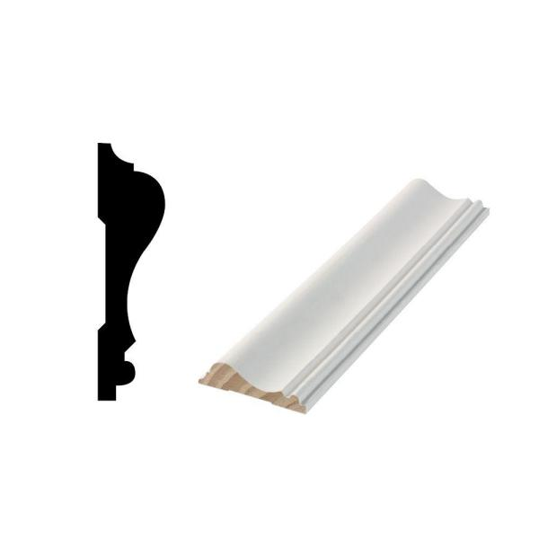 Alexandria Moulding 5 8 In X 2 1 2 In X 84 In Primed Mdf Chair Rail Moulding 05741 96084c The Home Depot