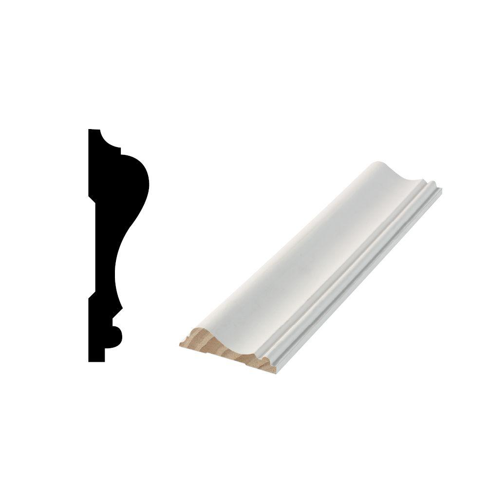 2 Pc Chair Rail Part - 17: Woodgrain Millwork WM 390 11/16 In. X 2-5/8 In. X 96 In. Primed  Finger-Jointed Chair Rail Moulding-10000538 - The Home Depot