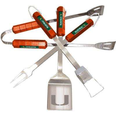 NCAA Miami Hurricanes 4-Piece Grill Tool Set