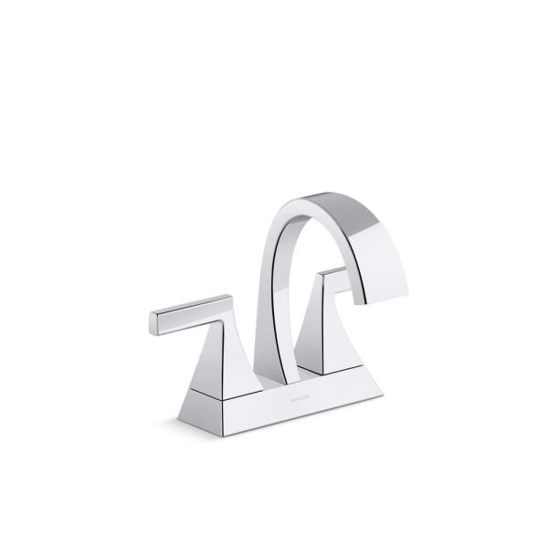 Katun 4 in. Centerset 2-Handle Bathroom Faucet in Polished Chrome