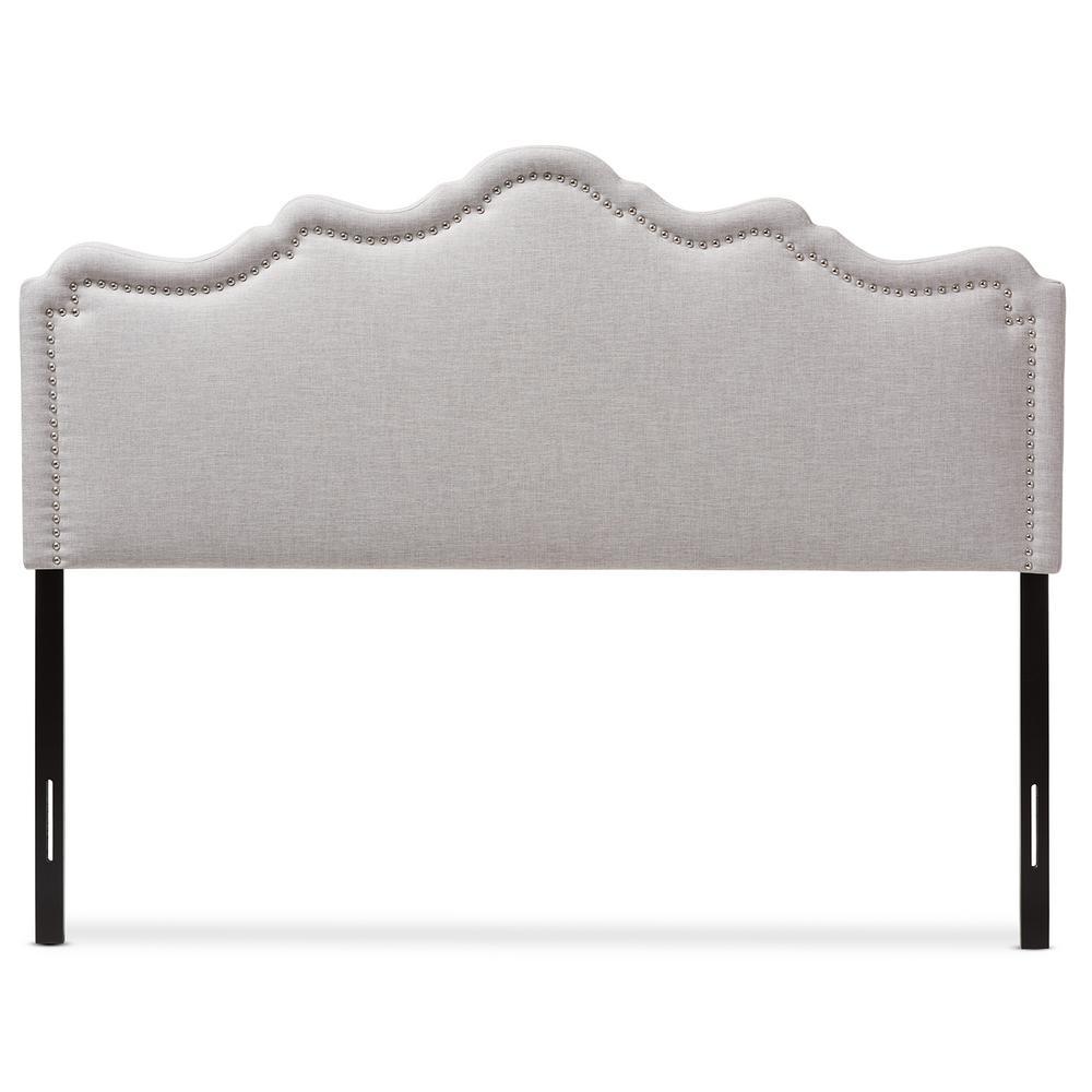 Nadeen Greyish Beige Fabric Upholstered King Size Headboard