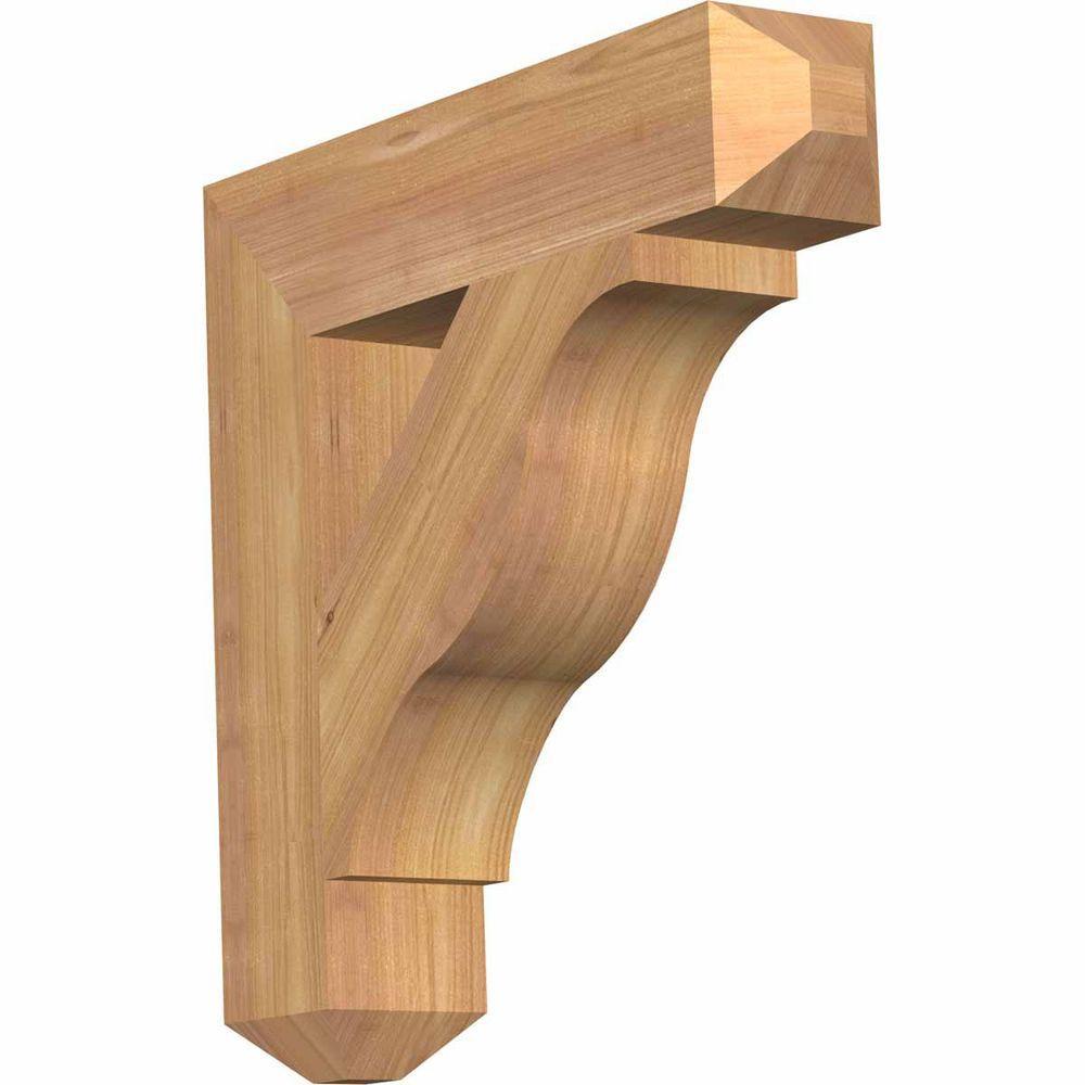 Ekena Millwork 3.5 in. x 18 in. x 18 in. Western Red Cedar Funston Craftsman Smooth Bracket