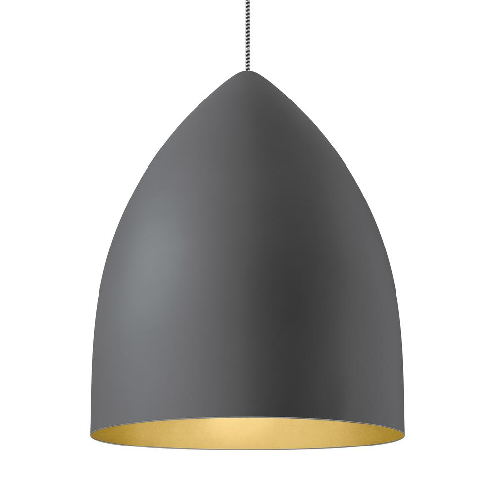 LBL Lighting Signal Grande Gray LED Line-Voltage Pendant LBL Lighting Signal Grande Gray LED Line-Voltage Pendant