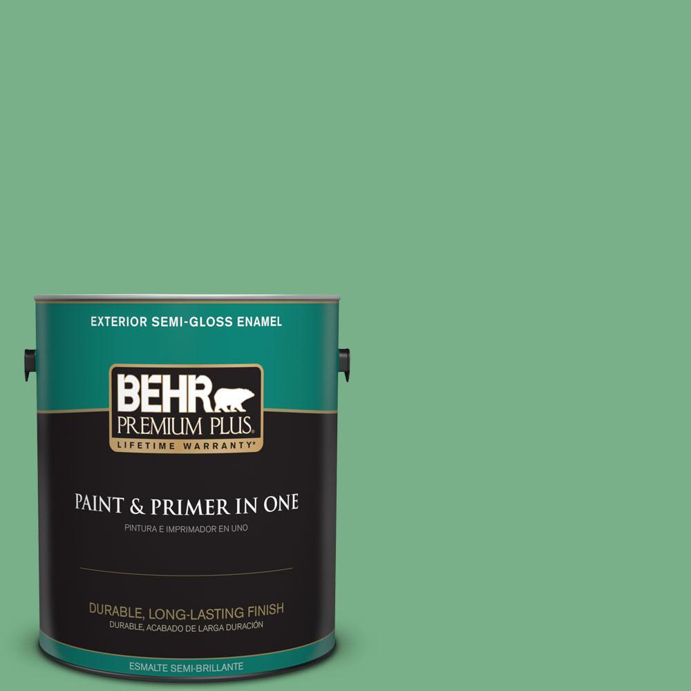 1-gal. #M410-5 Green Bank Semi-Gloss Enamel Exterior Paint