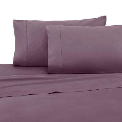 T400 Collection Plum Cotton King Sheet Set