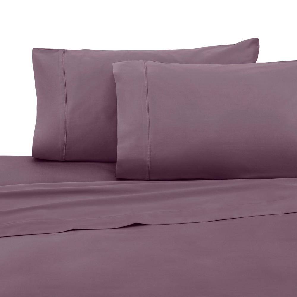T400 Plum Cotton Twin Sheet Set