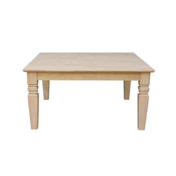 Java 36 in. Unfinished Medium Square Wood Coffee Table