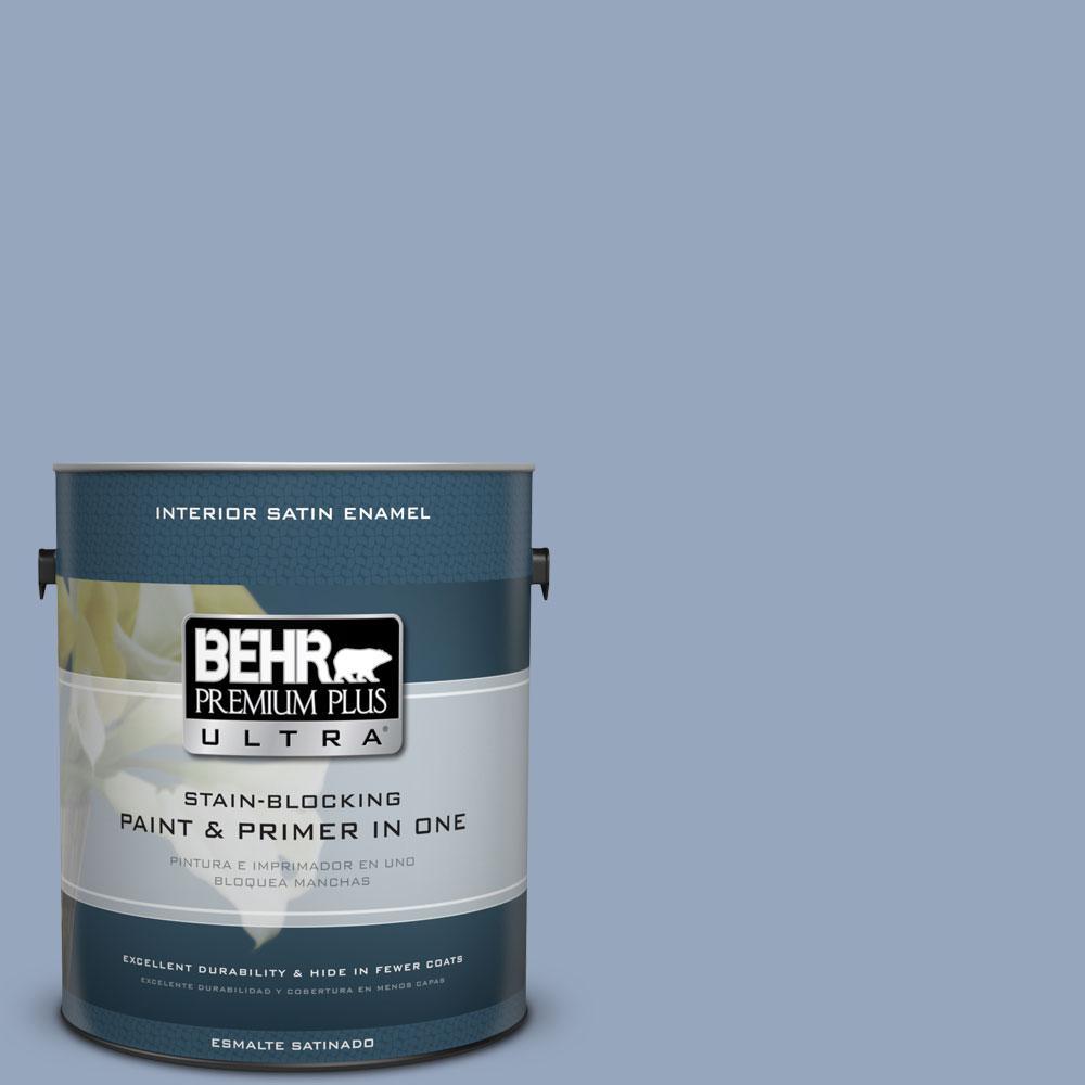 BEHR Premium Plus Ultra 1 gal. #590F-4 Cloudberry Satin Enamel Interior Paint and Primer in One