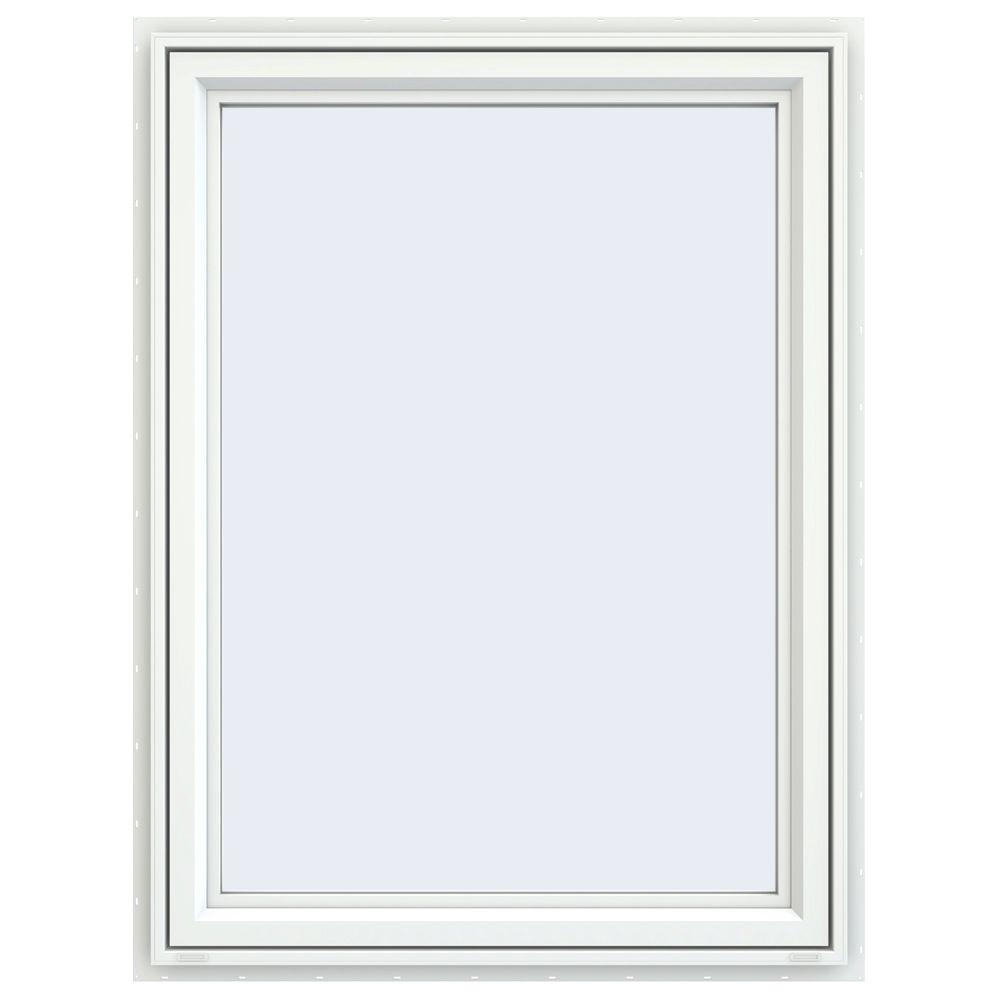 35.5 in. x 47.5 in. V-4500 Series Right-Hand Casement Vinyl Window - White