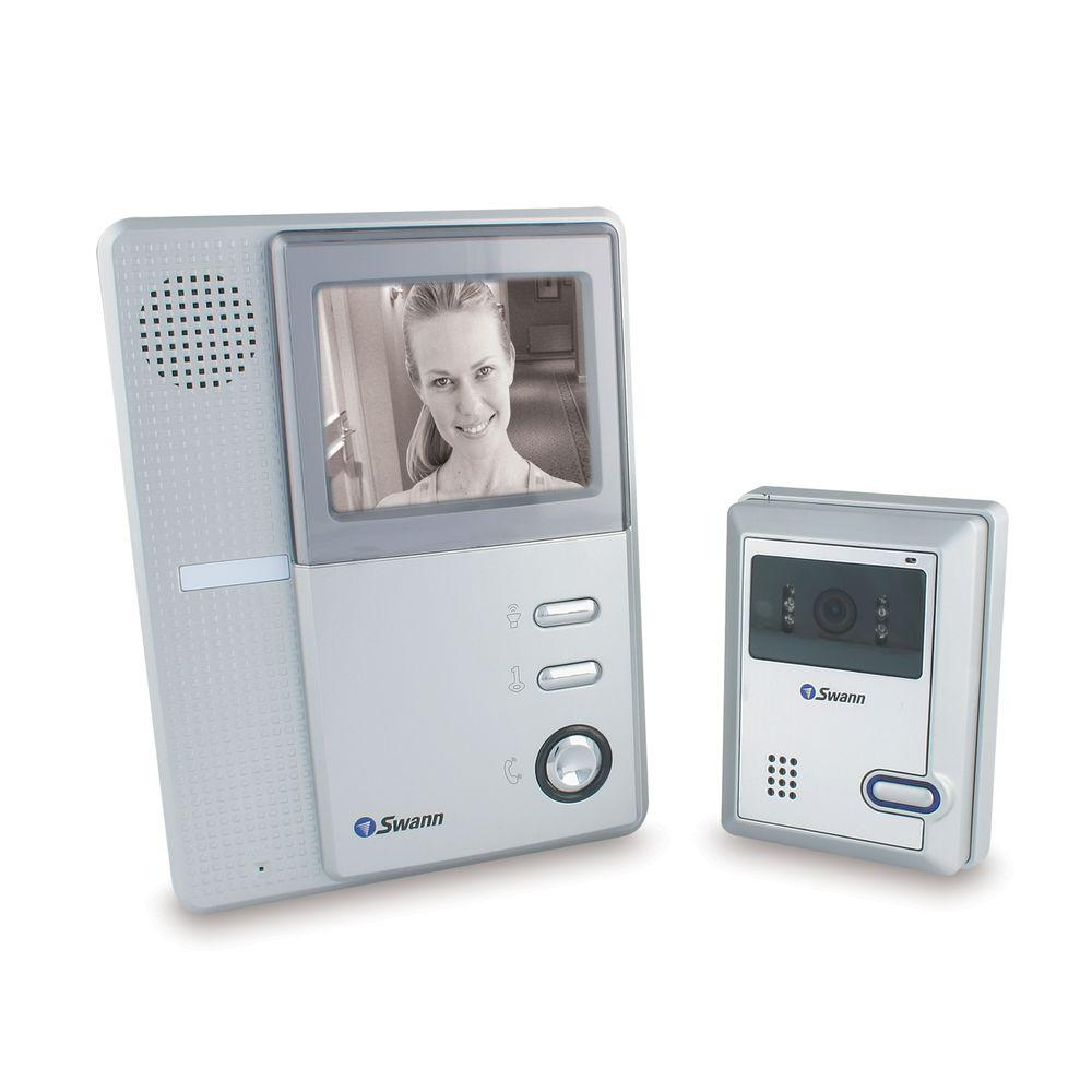 Swann SW244-BVD Doorphone Video Intercom and B&W 4 in. Screen-DISCONTINUED
