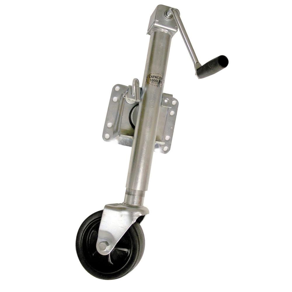 Trailer Tounge Jack with Wheel 1000lb Capacity Swivel Bolt On
