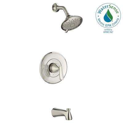 Chatfield Single-Handle 3-Spray Tub and Shower Faucet with 1.8 GPM in Brushed Nickel (Valve Included)