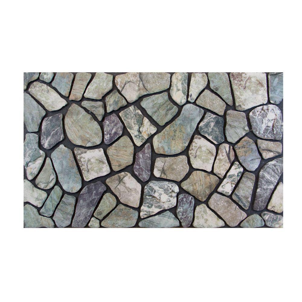 Stone Grey 18 in. x 30 in. Door Mat