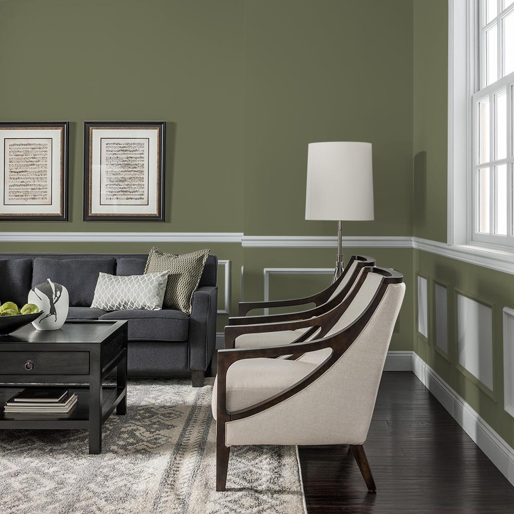 Reviews For Glidden Essentials 1 Gal Hdgg26 Olive Green Flat Interior Paint Hdgg26e 01fn The Home Depot