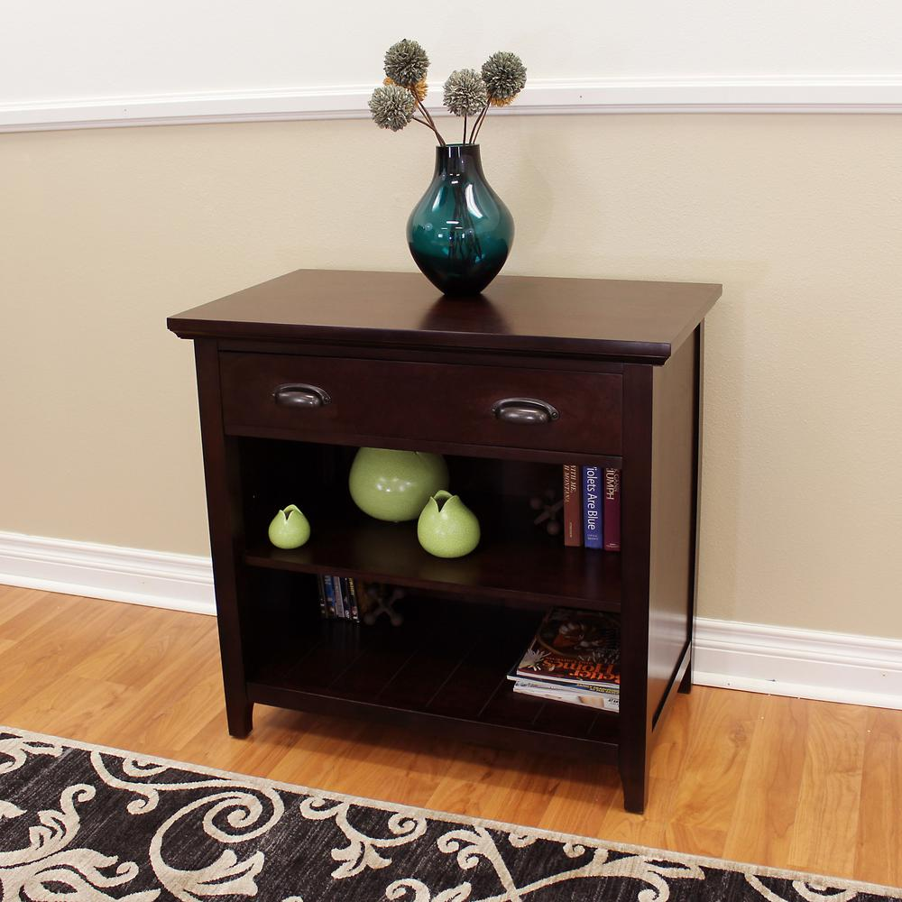DonnieAnn Lindendale 1 Drawer Espresso Accent/Console Table