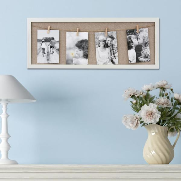 4 in. x 6 in. White Wall Collage Frame SB-V418X1