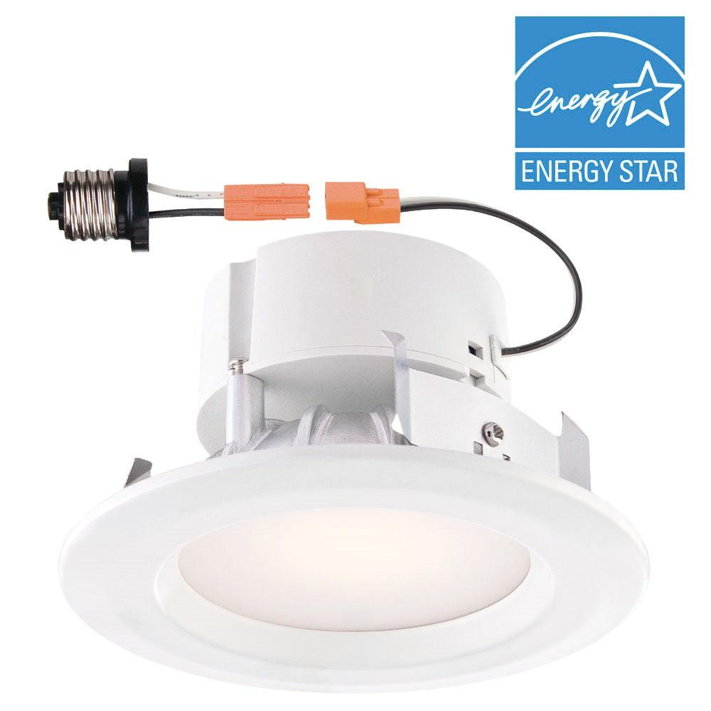 Commercial electric 4 in white integrated led recessed trim commercial electric 4 in white integrated led recessed trim aloadofball Image collections