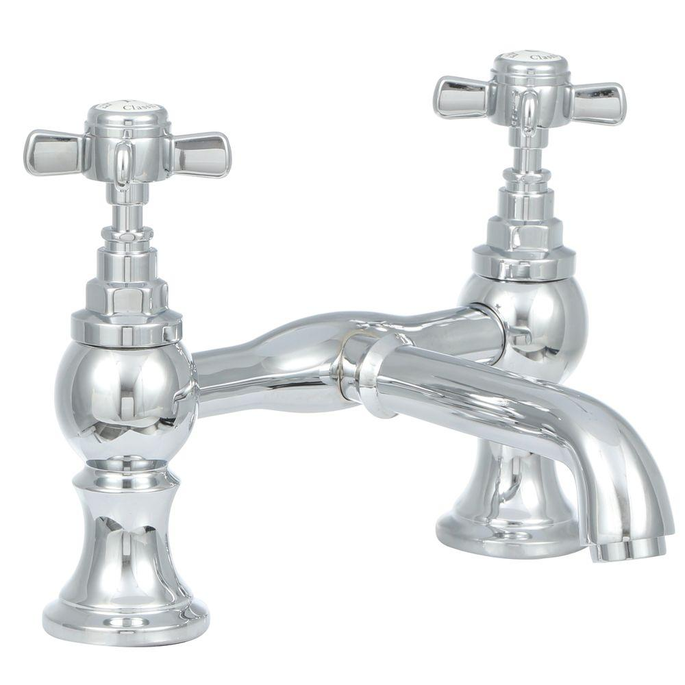2-Handle Claw Foot Tub Faucet without Hand Shower in Chrome