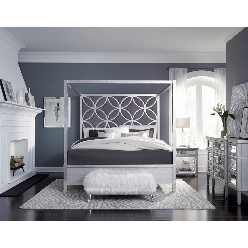 Homefare Velvet Quatrefoil Queen Canopy, The Curated Nomad Quatrefoil Queen Canopy Bed