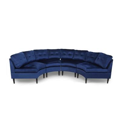 Jazmine 4-Seater Navy Blue Sectional