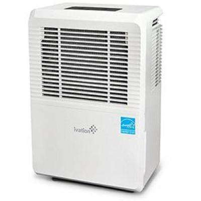 70 Pint Energy Star Dehumidifier For Spaces Up To 4,500 Sq Ft Includes Programmable Humidistat, Hose Connector, Casters