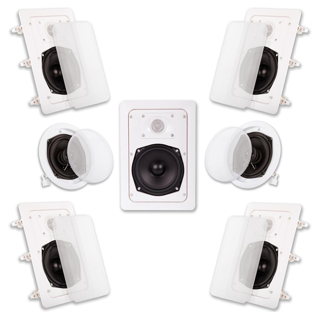acoustic audio by goldwood in wall ceiling 1400 watt home theater 7 speaker system ht 57 the. Black Bedroom Furniture Sets. Home Design Ideas