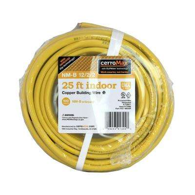 25 ft. 12-2-2 Yellow NM Wire