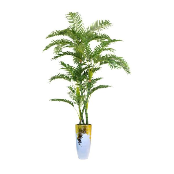 Laura Ashley 93.5 in. Palm Tree Artificial Faux Dcor in Resin