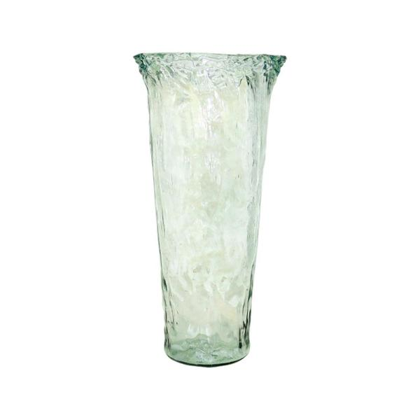 Rhea 20 in. Glass Decorative Vase in Recycled Glass Finish