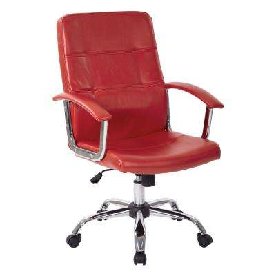 Malta Red Office Chair
