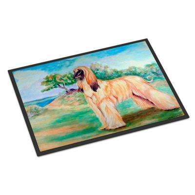 18 in. x 27 in. Indoor/Outdoor Afghan Hound Indoor Outdoor Mat