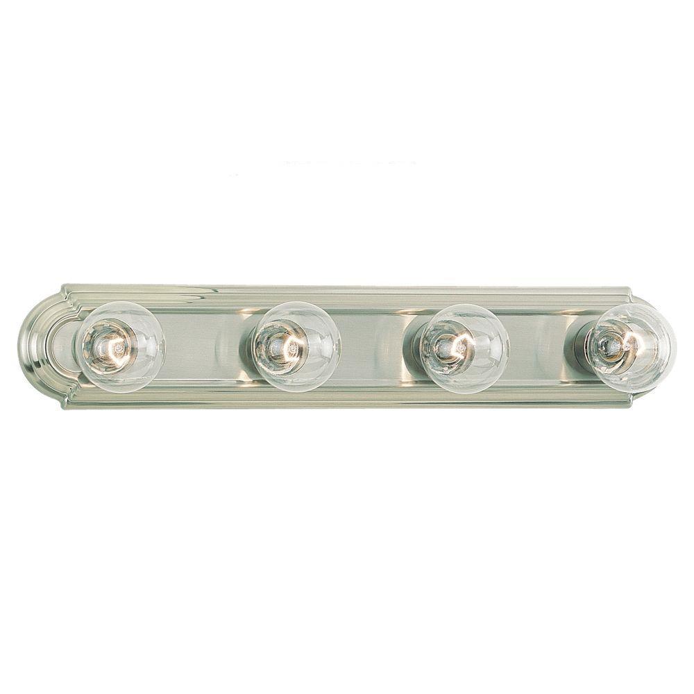 De-Lovely 4-Light Brushed Nickel Bar Vanity Fixture