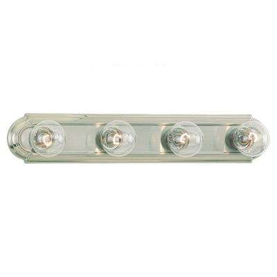 De-Lovely 4-Light Brushed Nickel Bar Vanity Fixture