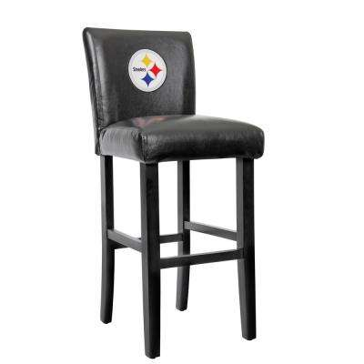 Pittsburgh Steelers 30 in. Bar Stool with Faux Leather Cover (Set of 2)