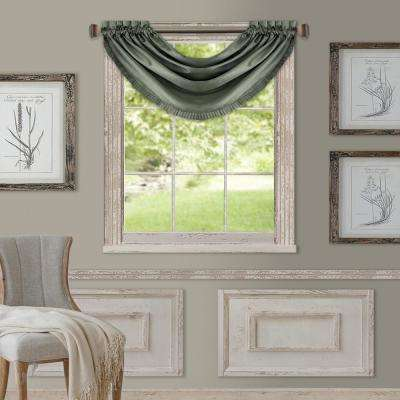 Elrene Versailles 52 in. W x 36 in. L Polyester Single Blackout Window Valance in Thyme