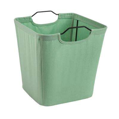 10.5 in. W x 11 in. H x 10.5 in. D Green Wire Framed Fabric Drawer