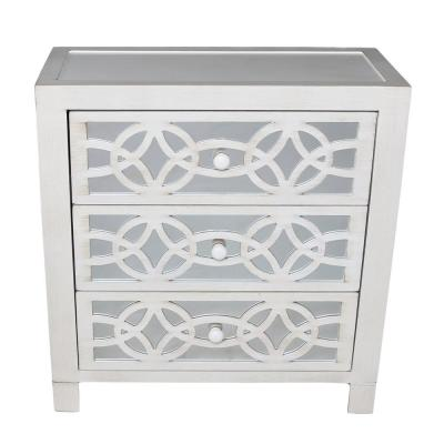 Glam Slam 3-Drawer White Cabinet