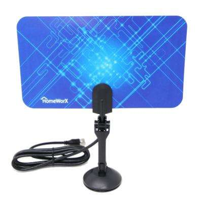 HomeWorx HDTV Digital Flat Portable TV Antenna, 25-Miles Range