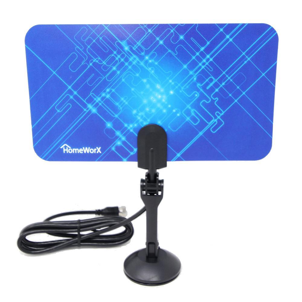 HomeWorx HDTV Digital Flat Portable TV Antenna, 25-Miles Range