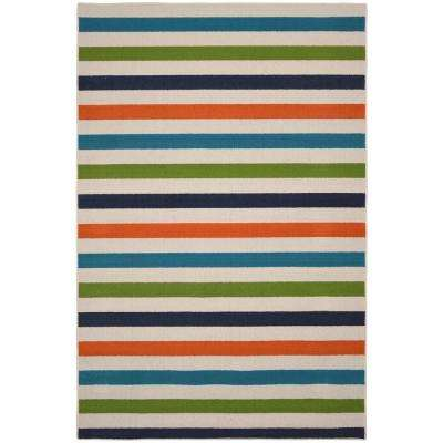 Summer Stripe Multi 5 ft. x 7 ft. Area Rug