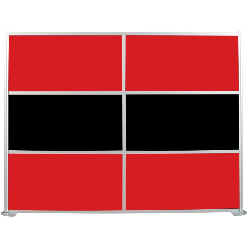 100-1/8 in. x 75-3/8 in. uDivide Red and Black 6-Panel Room