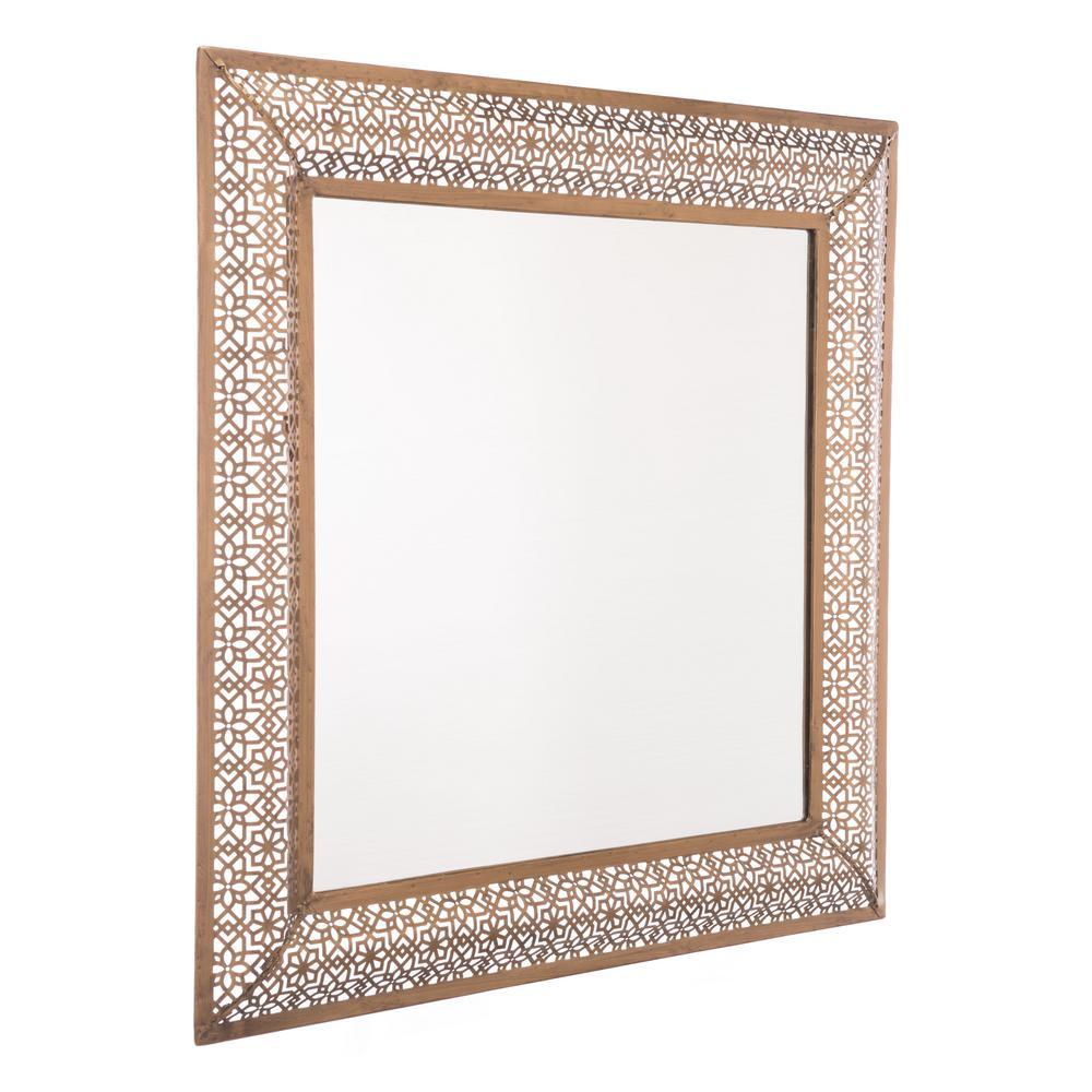 Moroccan Escamas Antique Gold Wall Mirror
