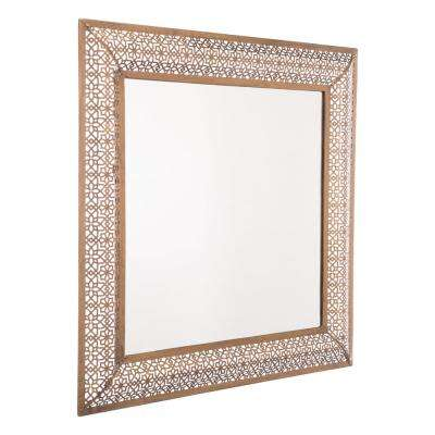 Moroccan Escamas Antique Gold Wall Mirror