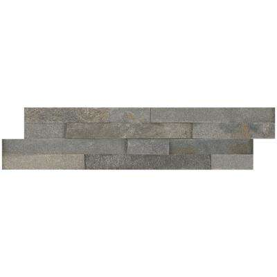 Salvador Grey Ledger Panel 6 in. x 24 in. Natural Quartzite Wall Tile (10 cases / 80 sq. ft. / pallet)