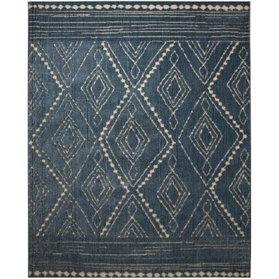 Nomad Vado Blue 8 ft. x 10 ft. Geometric Area Rug