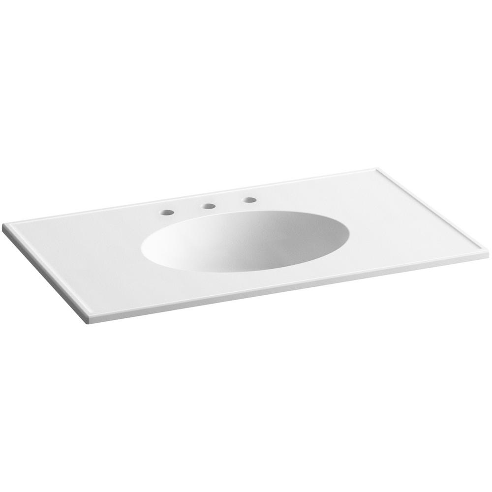 Charmant KOHLER Ceramic/Impressions 37 In. Vitreous China Vanity Top With Basin In  White Impressions