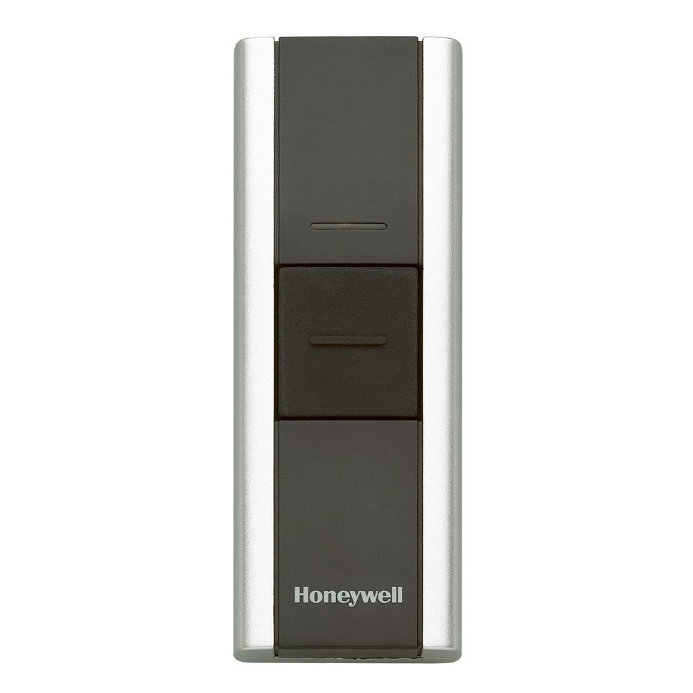 Honeywell Add-on or Replacement Push Button, Black/Chrome, Compatible w/Honeywell 300 Series and Decor Chimes
